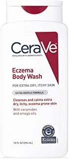 CeraVe Eczema Body Wash | 10 oz | Dry Skin Relief & Eczema Treatment Shower Gel for Itchy Skin | Fragrance Free