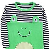 Snakell Baby Strampler Jungen Mädchen Schlafanzug Overall Säugling Spielanzug Baby-Nachtwäsche Babykleidung Baby Erstausstattung Cartoon Frosch Body Baby Strampler Baby wickelbody
