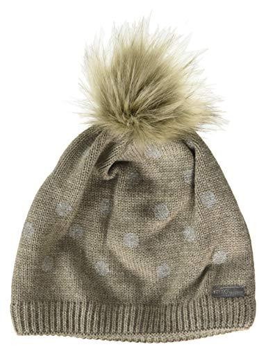 maximo Mädchen Kunstfellpompon Beanie-Mütze, borkemeliert, 55