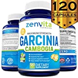 100% Pure Garcinia Cambogia Extract 95% HCA - 120 Capsules - 2100 mg Appetite Suppressant, Non-GMO & Gluten Free, Highest Potency, Maximum Strength Garcinia Cambogia Weight Loss Supplement