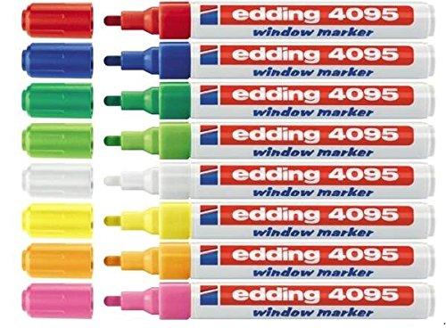 edding 4090-4095 Fenster-/Kreidemarker (2-3 mm, sortiert, 8)