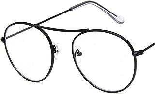 Unisex Glasses Frame Retro Gold Round Full Frame Decoration Prescription Glasses