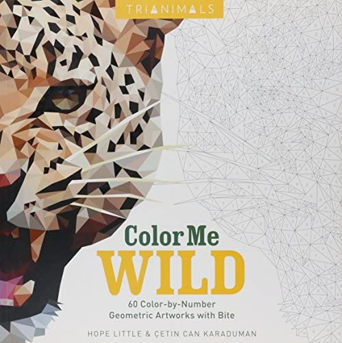 Trianimals Color Me Wild 60 Color by Number Geometric Artworks with Bite product image