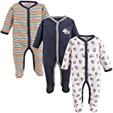 Luvable Friends Unisex Baby Cotton Sleep and Play, Dog, 3-6 Months