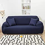 DWTECH Funda elástica para sofá Elasticas de 1 2 3 4 Plazas (Gratis 2 Funda de Cojines) Universal Funda Cubre Sofas Ajustables, Antideslizante Protector Cubierta de Muebles con Cuerda de fijación