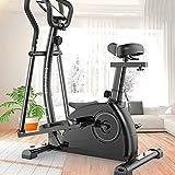 Waqihreu Professional Fitness3 en 1 máquina elíptica Paso a Paso para Correr Control magnético para el hogar Bicicleta de Ejercicio Comercial Interior silencioso Equipo de Fitness Space WAL