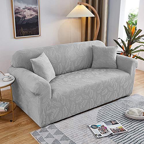 Fsogasilttlv Elastica Protector para Sofa Chaise Longue 2 plazas y 4 plazas 2 uds, Funda de sofá Jacquard Gruesa Color sólido, Funda de sofá de Tela de cojín para sofá para Sala de Estar