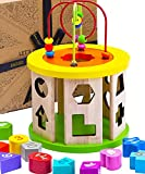 Jaques of London Activity Cube Wooden Toys   Educational Centre for Baby and Toddler with Bead Maze to Learn Sorting and Develop Through Play   Since 1795