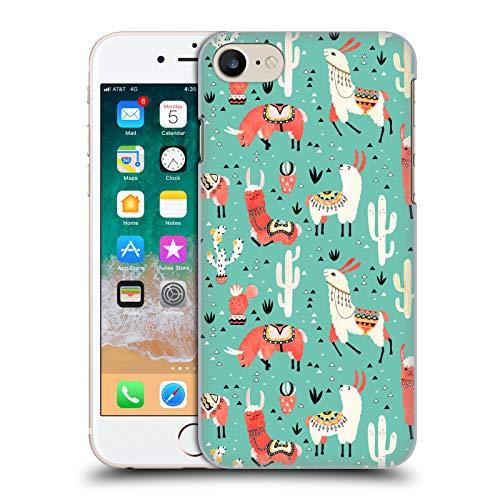 Head Hülle Designs Offizielle Lidiebug Froehliches Lama 3 Tiermuster Harte Rueckseiten Handyhülle Hülle Huelle kompatibel mit Apple iPhone 7 / iPhone 8 / iPhone SE 2020