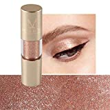 Sombra de ojos monocromática perlada, paleta de sombras de ojos con brillo metálico de 8 colores, sombra de ojos, maquillaje de diamantes para fiestas, bodas, maquillaje diario (#8)