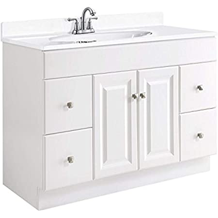 Design House 597278 Wyndham Unassembled Bathroom Vanity Cabinet Without Top 24 X 24 White Amazon Com