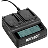 Watson Duo LCD Charger with 2 NP-W126 Battery Plates