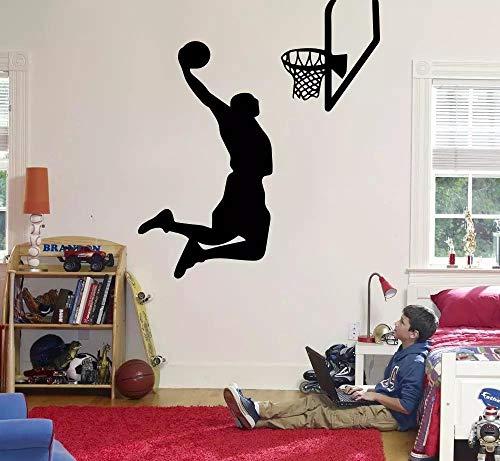 Wandtattoo,Über Basketball Wandaufkleber, Kinderzimmer Junge Schlafzimmer Dekoration Wahl, Für Basketballfans Dunk Abziehbilder Home Art 57X66Cm,Wandtattoo Wohnzimmer