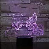 Ancient Greek Roman Warriorss 3D Night Light Usb Led Table Lamp Lighting Visual Touch Cool Figure Kids Toys