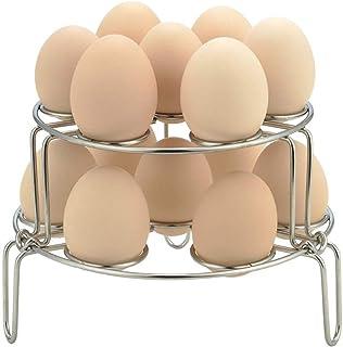 Bollaer - Soporte para huevos al vapor, 2 unidades de acero inoxidable apilable para olla instantánea y olla a presión y olla de cocción