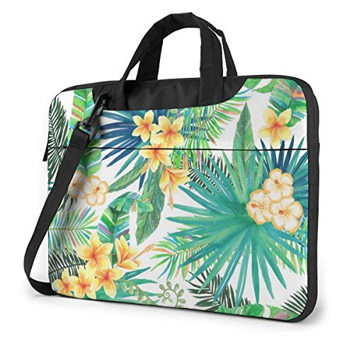 Tropical Plant Green Laptop Sleeve Case 15.6 Inch Computer Tote Bag Shoulder Messenger Briefcase for Business Travel