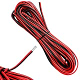 D-Orange 22 AWG 10 Metros Cable Eléctrico Alambre de Cobre Estañado Resistencia a Altas Temperaturas Negro y Rojo para Conductor de Tira LED, Auto y Otros