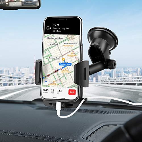 Soporte Universal para teléfono móvil, Manos Libres, para salpicadero de Coche, Parabrisas con Ventosa Fuerte para iPhone XR XS X 8 7 SE 6S 6 5S Galaxy S10 S9 S8 S7 S6 LG Sony y más