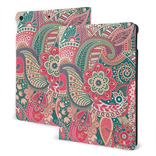 Case for iPad Painting Flower PU Leather Business Folio Shell Cover with Stand Pocket and Auto Wake/Sleep for iPad Air 10.5'
