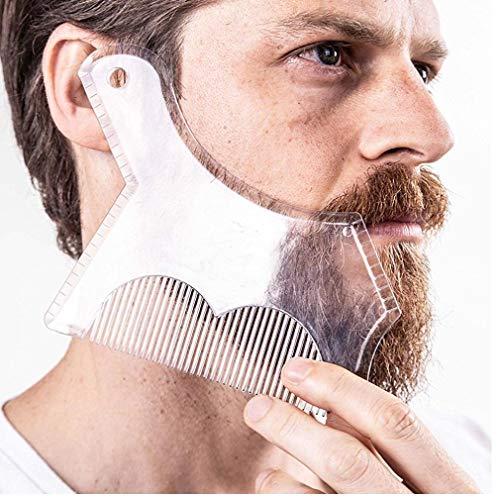 Nouveau Design innovant Barbe Mise en Forme Guide d'arasement Shaper Modèle de Rasage ou Pochoir Styling Plein Taille Peigne pour Line Up