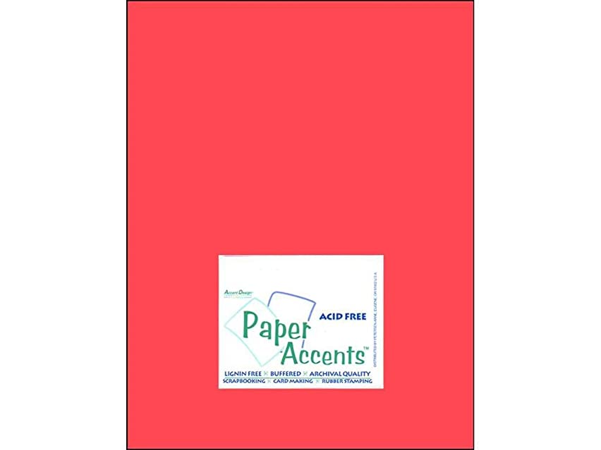 Accent Design Paper Accents Cdstk Muslin 8.5x11 74# Strawberry