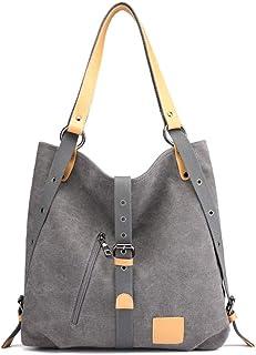 Handbag - Large Capacity Magnetic Button Single-shoulder Bag, Polyester Wear-resistant Canvas Bag, Ladies' Casual Fashion ...