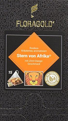 FLORAGOLD Pyramidenbeutel rotbuschtee Stern von Afrika, 1er Pack (1 x 53 g)