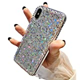 Accgoal LG Stylo 6 Case,for LG Stylo 6 Glitter Sparkle Bling Case for Girls Women,Rhinestone Bumper Protective Cover for LG Stylo 6 (Silverf)