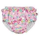 i play. by green sprouts Baby Clothing, Shoes & Jewelry Girls Swim Diaper, Light Pink Dragonfly Floral, 18mo