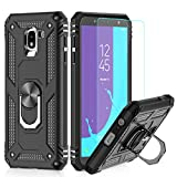 LeYi Custodia Galaxy J6 2018 Cover, 360° Girevole Regolabile Ring Armor Bumper TPU Case...