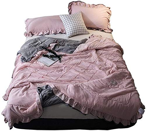 HFXY Geometric Pattern Double Duvet,Breathable And Soft Washable Trendy Quilt Bedding Set Duvet And 2 Pillowcases Set 1.5 Tog 1021
