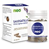NEO | Extracto de Fruto de Sauzgatillo | Vitex Agnus Castus 200 mg | 45 cápsulas Naturales | Para Ayudar a Mantener el Bienestar Femenino | Libre de Alérgenos y GMO | Tomar de 1 a 2 Cápsulas a Día