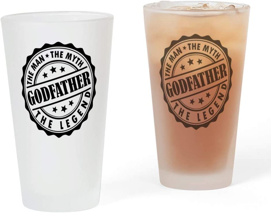 Today's only CafePress Godfather The Man Myth Max 84% OFF Drinking Legend Pint G
