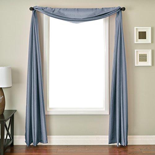 Softline Home Fashions Inc Bella 6Yard Fenster Schal, Federal blau