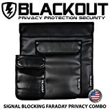 RFID Blocking Faraday Cage Privacy Bag EMP BLACKOUT Bag Combo for Laptops, Tablets Smartphones Hard Drives iPad iPhone Galaxy Passports Credit Cards