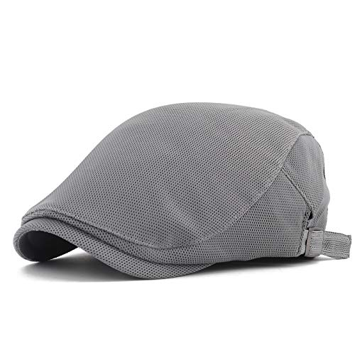 Gisdanchz Boina De Verano Hombre Mens Flat Cap Newsboy Hats For Men Golf Cabbie Hat Fashion Ivy Hat Boinas De Hombre Sombrero Hombre Gorras De Hombre Invierno Hombre Gorra Gatsby Planas Gris Claro