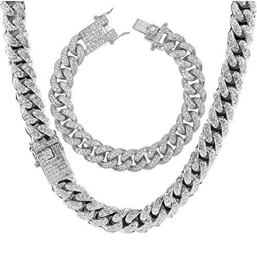 Men's 12MM 14MM 20MM Chains 18K Gol…