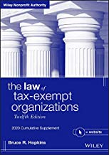 The Law of Tax-Exempt Organizations + Website, 12th Edition 2020 Cumulative Supplement (Wiley Nonprofit Authority)