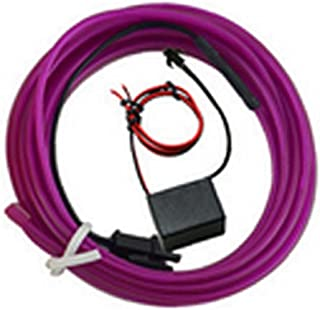 Red de Cable Gap Automotive Car 1 Conjunto de Cables de luz de neón Brillante LED de luz electroluminiscente del Panel para la decoración Interior del Coche de 1 m / 3,3 pies luz púrpura