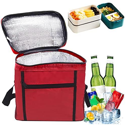 picnic impermeabile 12 l Moyad colore: Nero pesca per il pranzo Borsa termica termica termica da donna barca ufficio per spiaggia