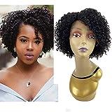 WIGENIUS Short Kinky Curly Wig Unprocessed Brazilian Virgin Curly Human Hair Wigs African American Women Wigs(Kinky curl)