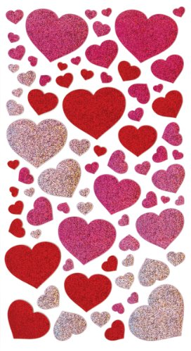 Sticko 52-00067 Metallic Sticker Blissful Hearts