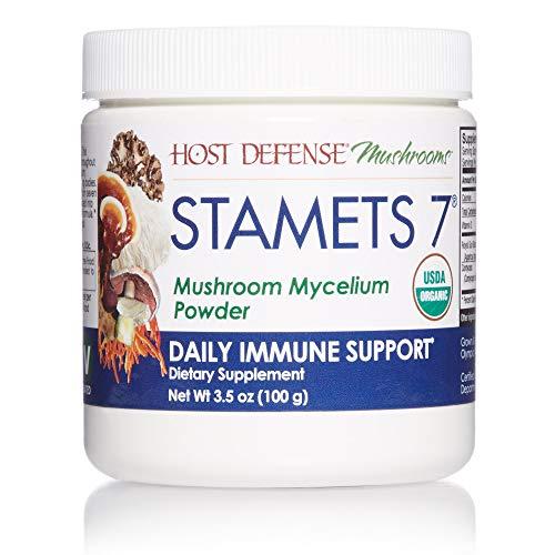 Host Defense, Stamets 7 Mushroom Powder, Daily Immune Support, Certified Organic Supplement