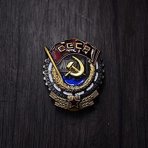 YUNjun Medalla de Estrella de Oro de Stalin, Medalla de Trabajo de Cinco Estrellas soviética de la URSS de la Segunda Guerra Mundial Rusa con Insignia de alfileres