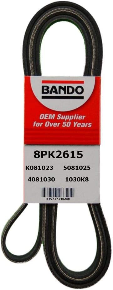 Bando 8PK2415 Serpentine Belt Fit Toyota 07-08 TUNDRA 08 SEQUOIA OE#90916-A2014