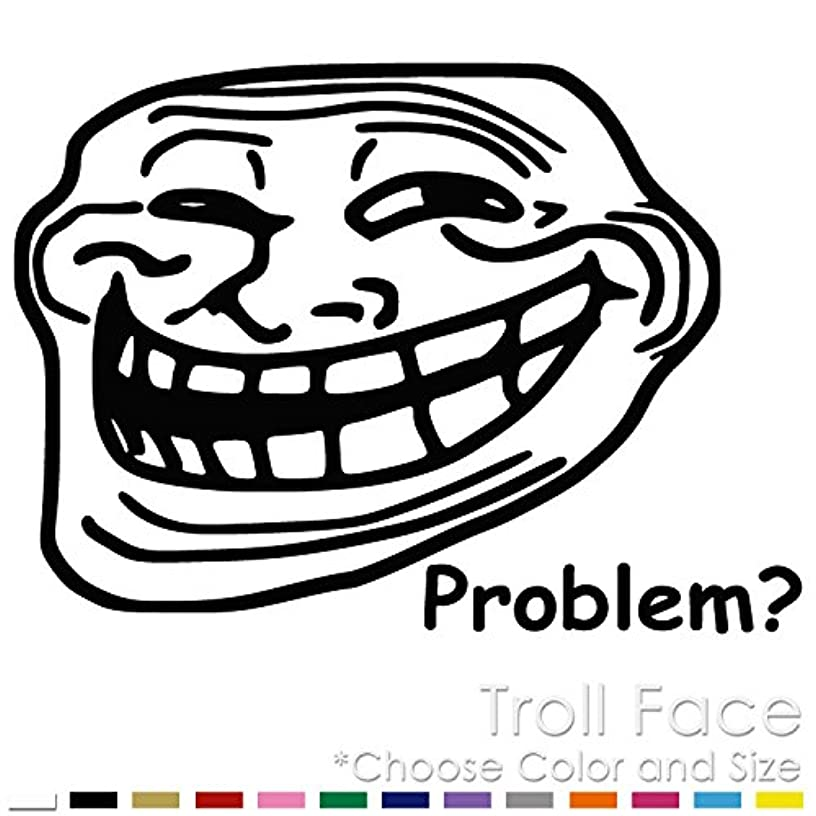 Troll Face Internet Meme Vinyl Decal Sticker (TF-02)