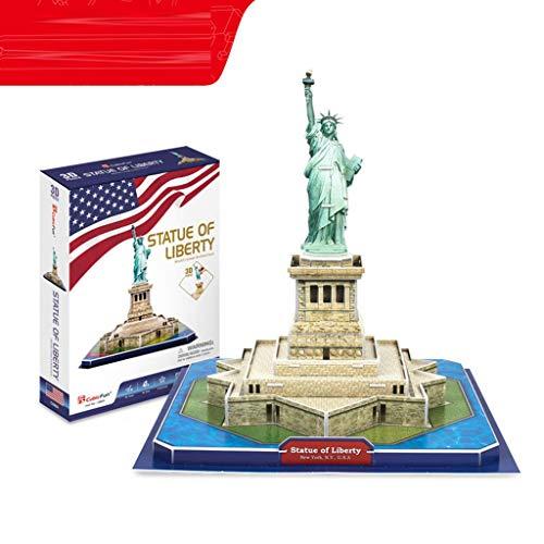 YYF 3D Rompecabezas Tridimensional de América Estatua de la Libertad de 8-12 años de Edad Modelo de Papel del Rompecabezas de inserción educativa de los niños de Bricolaje