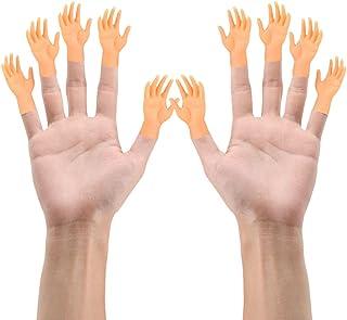 Gobesty Tiny Hands, 10 stuks kleine handen vingerpoppen linker- en rechterhand tovertrucs voor familie vrienden spelletjes...