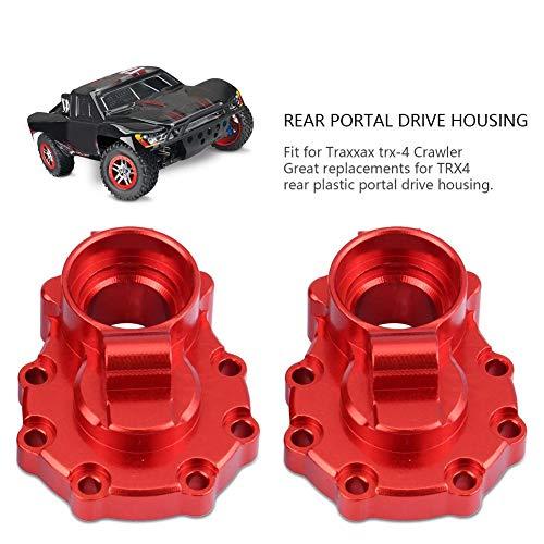 2 Stücke RC Drive Portal Gehäuse, Aluminiumlegierung Portal Drive Gehäuse Hinten für Traxxas TRX-4 1/10 Crawler RC Upgrade Teil( Rot)