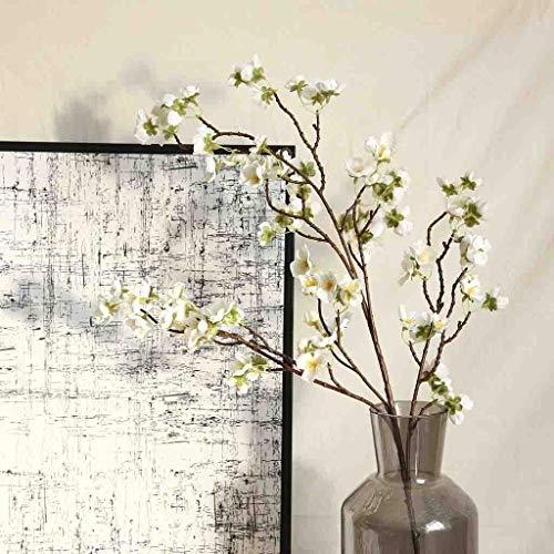Deng Xuna Kunstblumen Cherry Blossom Kirschblüte Künstliche Blumen Plastikblumen Kunstpflanze für Balkon Garten Außenbereich Zuhause Büro Vase Hochzeit Party Dekoration Blumendekor, 97 cm (A) - 2